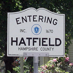 Entering Hatfield Sign